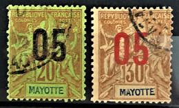 MAYOTTE 1912 - Canceled - YT 24, 26 - Oblitérés