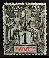 MAYOTTE 1892/99 - Canceled - YT 1 - 1c - Oblitérés