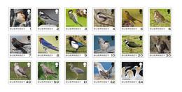 2021 Guernsey Birds, Set Of 17 Stamps, Guernsey, MNH - Guernsey