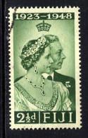Fiji 1948 KGV1 2 1/2d Green Silver Wedding Used SG 270 ( M1426 ) - Fiji (...-1970)