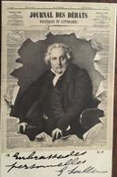 """CPA DE 1903, Presse """"journal Des Débats"""" Crevé, LOUIS-FRANCOIS BERTIN Peint Par INGRES - Directeur, Circulé, éd  SIP - Publicité"""