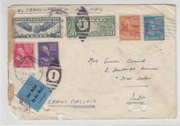 Zensur Luftpostbrief Aus ANN ARBOR 9.11.40 Nach New Delhi / Erhalt!! - Covers & Documents