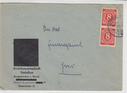 Entnazifizierter Brief Der Kreisbauernschaft Steinfurt Aus (21a) BURGSTEINFURT 4.3.47 - American,British And Russian Zone