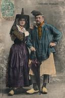 Folklore - Costumes Bressans - Un Couple - Edition Durand - Carte Colorisée De 1905 - Kostums