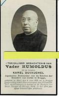 Karel Duvauchel ( Vader Rumoldus ) O Moll 1859  + Brugge 1927 - Images Religieuses