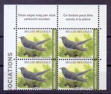 Belgie - 2021 - ** Koekoek - Blok Van Vier - Vogels ** Andre Buzin. MNH - Unused Stamps