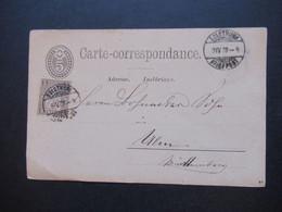 Schweiz 1878 Nr. 22 Als Zusatzfrankatur Auslandskarte Solothurn - Ulm Firmenstempel Fr. Wyss Handelsgärtner - Covers & Documents