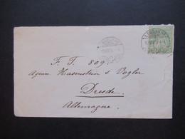 Schweiz 12.7.1879 Nr. 32 Als EF Auf Auslandsbrief Lausanne - Dresden Mit Ank. Stempel K1 Dresden Altst. - Covers & Documents