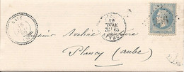 MARNE (49) LAC De BAYE (PERLE) GC 356 Sur NAP Pour PLANCY (concerne Des Terres à BOULAGES ...) - 1849-1876: Classic Period