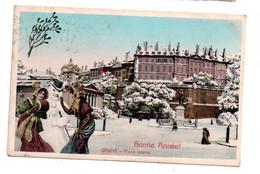 Bonne Année- Genève -place Neuve-voir état - New Year
