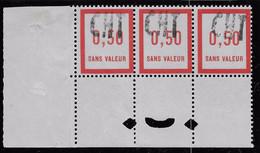 FICTIF N° 12 ** Surcharge CHT Pour CHiffre Taxe De Marseille-Bande De 3 Avec Perfo Atelier - Phantomausgaben