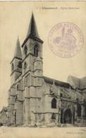 CHAUMONT  Eglise Saint Jean Beau Cachet Convoi Automobile Section 564 T.M. - Chaumont