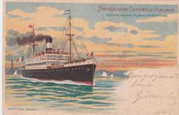 1901 NAVIGAZIONE GENERALE ITALIANA Soc Riunite Florio Rubattino Viaggiata - Storia Postale