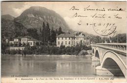 51bm 816 CPA - GRENOBLE - LE PONT DE L'ILE VERTE - Grenoble
