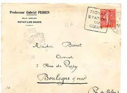F 16  192... Devant Lettre Entete Professeur De Medecine à   Royat Les Bains - 1921-1960: Période Moderne