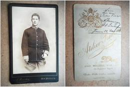 PHOTO CDV 19 EME MILITAIRE SOLDAT AUTRICHIEN  Cabinet REUTER  A WIEN - War, Military