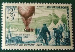 1018 France 1955 Neuf  Journée Du Timbre Départ D'un Ballon-poste Pendant Le Siège De Paris - Unused Stamps
