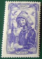 594 France 1943 Neuf  Coiffes Régionales Coiffe Bretonne Bretagne - Unused Stamps