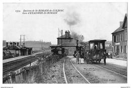 SAINT-ROMAIN De COLBOSC    Environs    Gare D'ETAINHUS SAINT-ROMAIN   (recto-verso) - Saint Romain De Colbosc