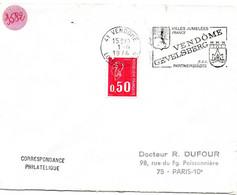 LOIR Et CHER - Dépt N° 41 = VENDOME 1974 = FLAMME à DROITE = SECAP Illustrée D' ARMOIRIES ' GEVELSBERG Jumelées ' - Mechanische Stempels (reclame)