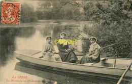 37 La Cisse, Le Dimanche En Promenade, 3 Tourangelles En Barque, Affranchie 1907 - Autres Communes
