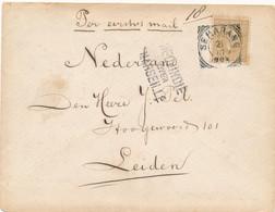 Nederlands Indië - 1893 - 15 Cent Willem III, Enkelfrankering Op Cover Van Semarang - Over Marseille - Naar Leiden / NL - Nederlands-Indië