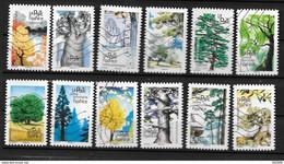 2018 - 207 - 1605 à 1616 Les Arbres - Used Stamps