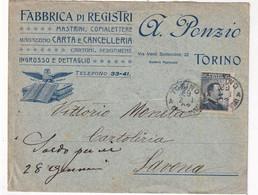 ITALIE    ENVELOPPE PUBLICITAIRE DE  TORINO - Storia Postale