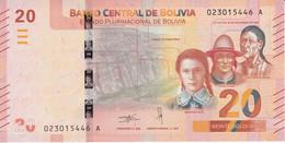 BILLETE DE BOLIVIA DE 20 BOLIVIANOS DEL AÑO 2018 SIN CIRCULAR (UNCIRCULATED) (BANKNOTE) COLIBRI - Bolivia