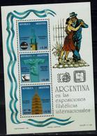ARGENTINA 1993 ARGENTINA AT THE INTERNATIONAL STAMP EXHIBITIONS POLSKA 93 MI No BLOCK 54 MNH VF !! - Blocs-feuillets