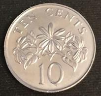 SINGAPOUR - SINGAPORE - 10 CENTS 1993 - KM 100 - ( Blason Bas ) - Singapore