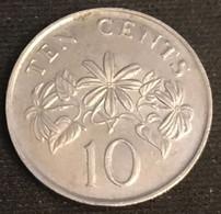 SINGAPOUR - SINGAPORE - 10 CENTS 1986 - KM 51 - ( Blason Haut ) - Singapore