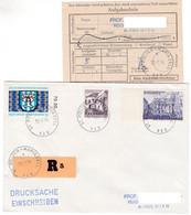 M682 Austria Bahnpost Stempel Mariazell - St.Pölten 1974 Spezial R-Zettel Recozettel Einschreiben Registered - 1971-80 Cartas