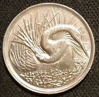 SINGAPOUR - SINGAPORE - 5 CENTS 1980 - Oiseau Anhinga Roux - KM 2 - Singapore