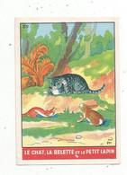 L , Chromo , Image , IMPERIAL ,la Madeleine Lez Lille , Fable , N° 89 , LE CHAT , LA BELETTE ET LE PETIT LAPIN - Altri