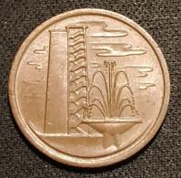 SINGAPOUR - SINGAPORE - 1 CENT 1975 - KM 1 - ( Non-magnétique ) - Singapore