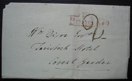 Londres (London) 1826 Tax 2 On Letter For Tavistock Hotel Covent Garden - ...-1840 Prephilately