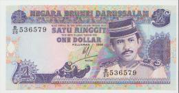 Brunei 1 Dollars 1994 Pick 13 UNC - Brunei