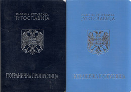 BORDER PASSPORT , SR YUGOSLAVIA - CROATIA  , BOTH TYPES - Documentos Históricos