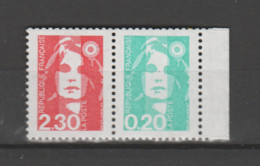 FRANCE / 1990 / Y&T N° 2614+2618 ** Ou P2614 ** : Briat 2F30 + 20c Se Tenant X 1 BdC D - Unused Stamps