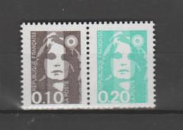 FRANCE / 1990 / Y&T N° 2617+2618 ** Ou P2617 ** : Briat 10c + 20c Se Tenant X 1 - Unused Stamps