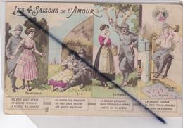 Humour Militaire ;Poilu Et Sa Belle; Les 4 Saisons De L'Amour ;Printemps / Eté / Automne / Hiver ,avec Légendes - Humor