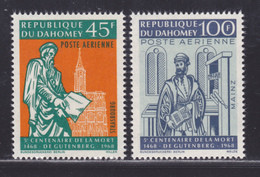 DAHOMEY AERIENS N°   73 & 74 ** MNH Neufs Sans Charnière, TB (D6248) Gutemberg - Benin - Dahomey (1960-...)