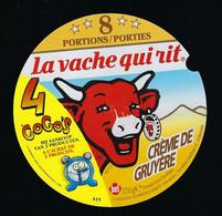 étiquette Fromage Fondu Bel  La Vache Qui Rit  Gracile  8 Portions Porties   Crème De Gruyere 4 Gogos - Formaggio