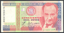 ♛ PERU' - 50.000 Intis 28.06.1988 UNC P.142 - Perù