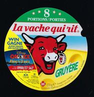 étiquette Fromage Fondu Bel  La Vache Qui Rit  Gracile  8 Portions Porties  Gruyere  Win Gagne  Des Supers Prix Dsney - Formaggio