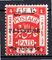 PALESTINE - (Administration Civile) - 1920-21  - N° 18A - 4 M. Rouge - (Dentelé 15x14) - Palästina