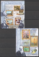 CA1017 2011 CENTRAL AFRICA CENTRAFRICAINE ART LES IMPRESSIONNISTES CLAUDE MONET 1KB+1BL MNH - Other
