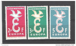 Luxembourg 1958  548-550 (590-592) Europa MNH (**) - 1958