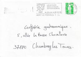 France-Azay Le Rideau-28/06/1994-Flamme D'oblitération-Salvador Dali - Cinema